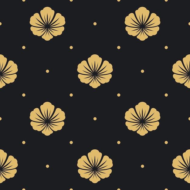 원활한 패턴 블랙 무료 벡터