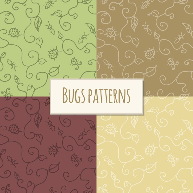 Seamless pattern bugs Free Vector