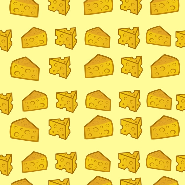 Seamless pattern cheese Premium Vector