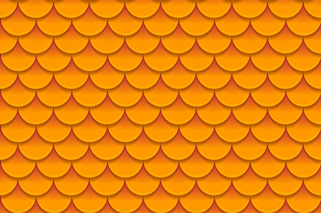 Seamless pattern of colorful orange fish scales Premium Vector