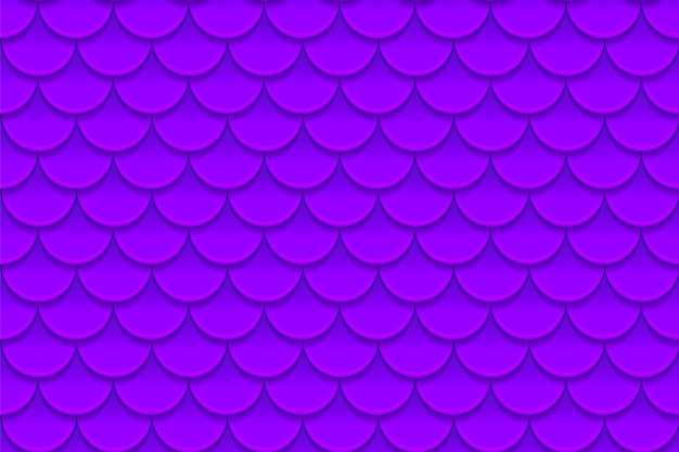 Seamless pattern of colorful violet purple fish scales. fish scales, dragon skin, japanese carp, dinosaur skin, pimples, reptile, snake skin, shingles. Premium Vector