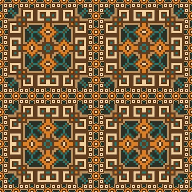 Seamless Pattern Design Of Carpet Premium Vector