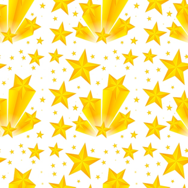 Seamless pattern design with yellow stars Free Vector