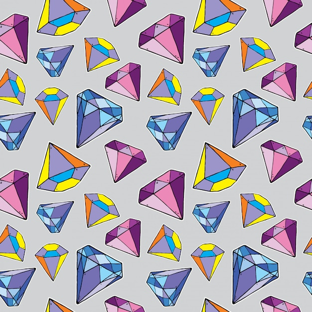 Seamless pattern of diamond, Premium Vector