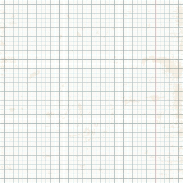 Seamless pattern of exercise book in a cage. Premium Vector