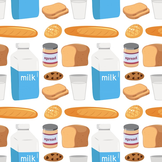 Seamless pattern of food Free Vector