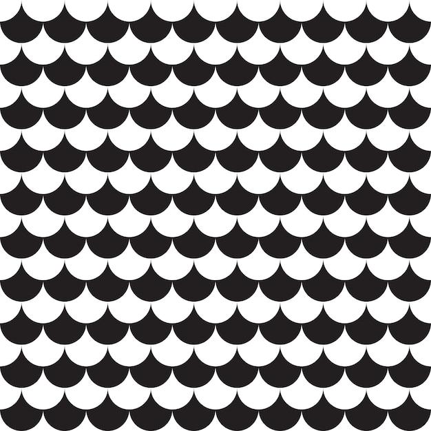 Seamless pattern geometric. black and white background Premium Vector