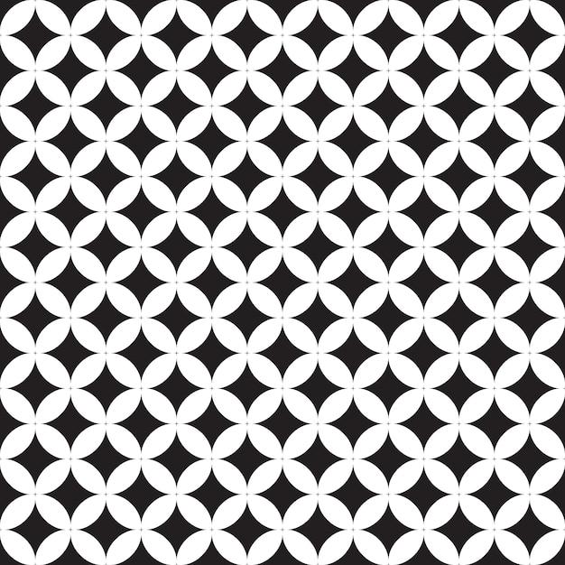 Seamless pattern geometric.black and white background. Premium Vector