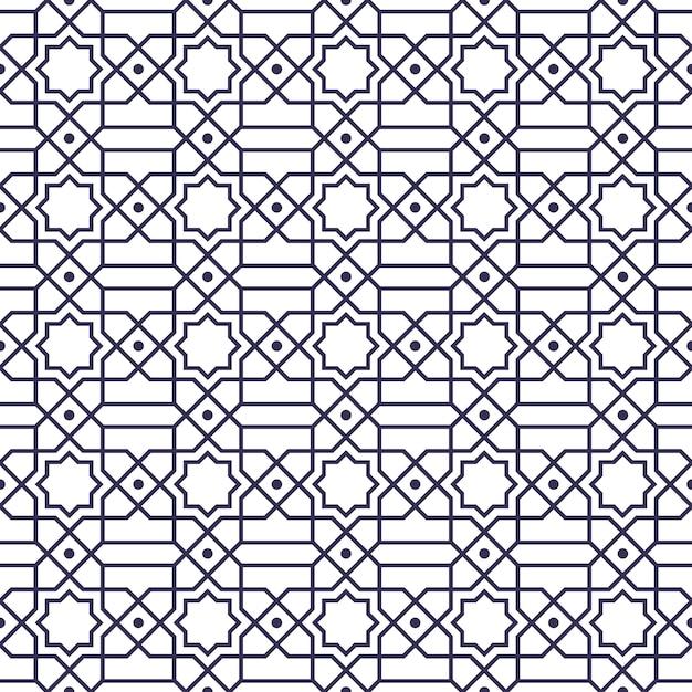 Seamless pattern. geometric shape in batik style.  background wallpaper. traditional elegant motif. Premium Vector