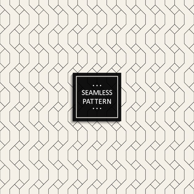 Seamless pattern of grid black color on grey Premium Vector