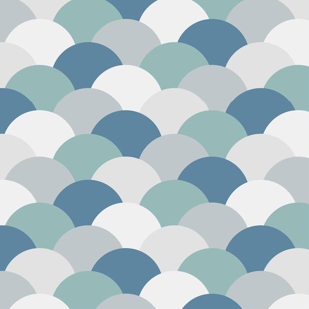 Seamless pattern of half circles Free Vector