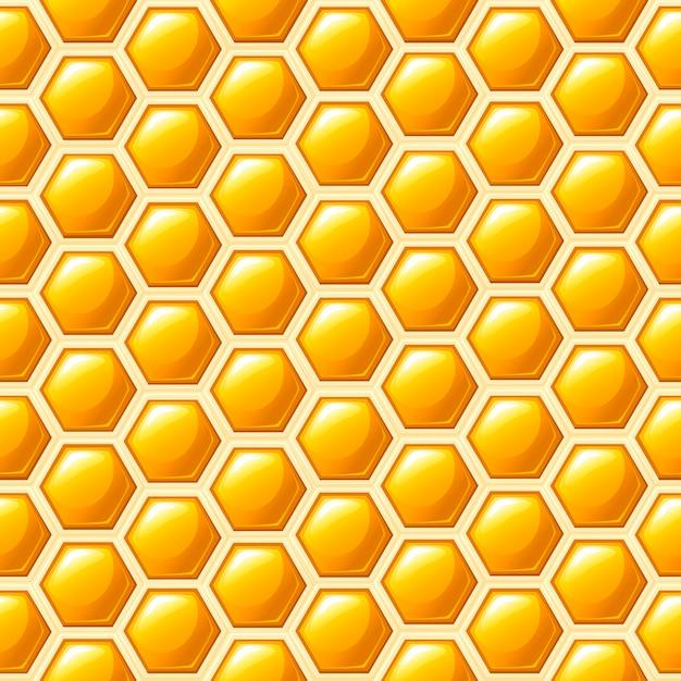 シームレスパターン。ハニカムスタイル。図。医療の抽象的なパターン、蜂蜜天然物 Premiumベクター