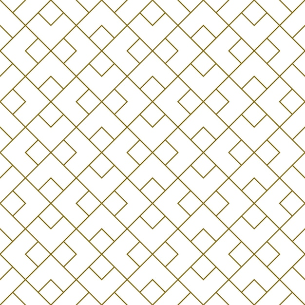 갈색 라인에서 스타일 Kumiko Zaiku의 완벽 한 패턴입니다. 평균 두께. 프리미엄 벡터