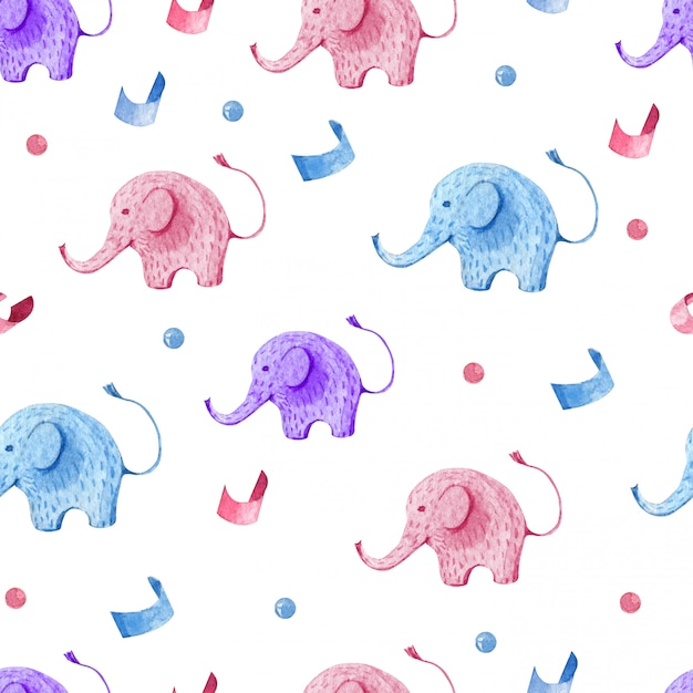 Seamless pattern kids set for children party Premium Vector