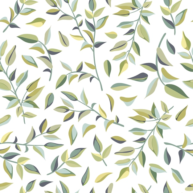 Seamless pattern of liana leaves. Premium Vector