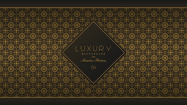 Seamless pattern luxury background Premium Vector