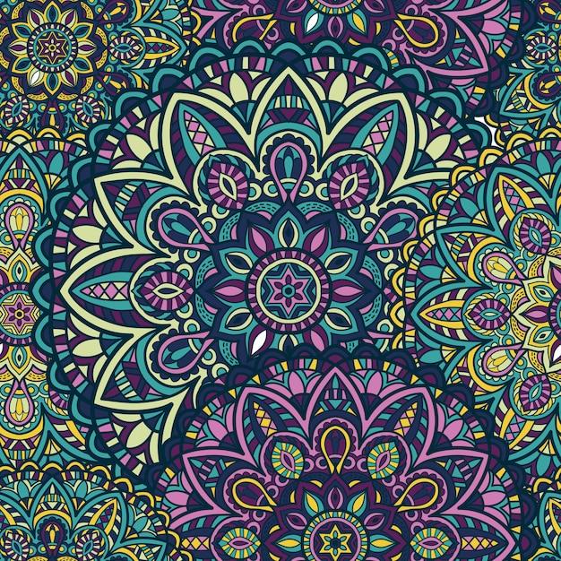 Seamless pattern mandala vector design for printing. tribal ornament. Premium Vector