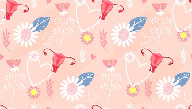 Seamless pattern. menstruation. Premium Vector
