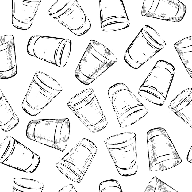 Seamless pattern of glasses