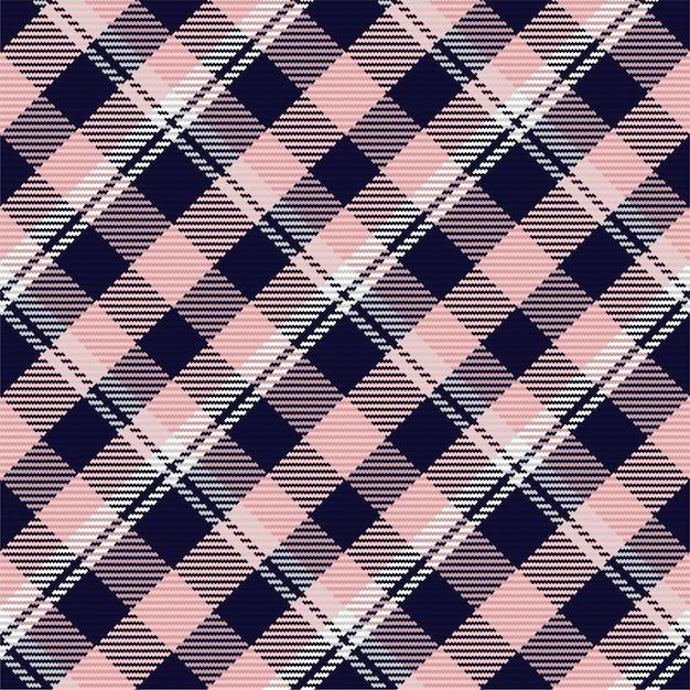 スコットランドのタータンチェック柄のシームレスパターン。チェック生地の質感で繰り返し可能な背景。 Premiumベクター