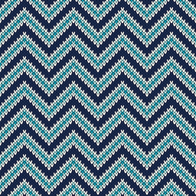 Seamless pattern ornament on the wool knitted texture Premium Vector