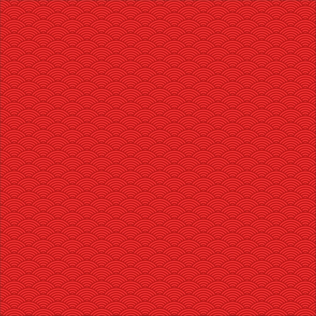 Seamless pattern of red chinese wave theme Premium Vector