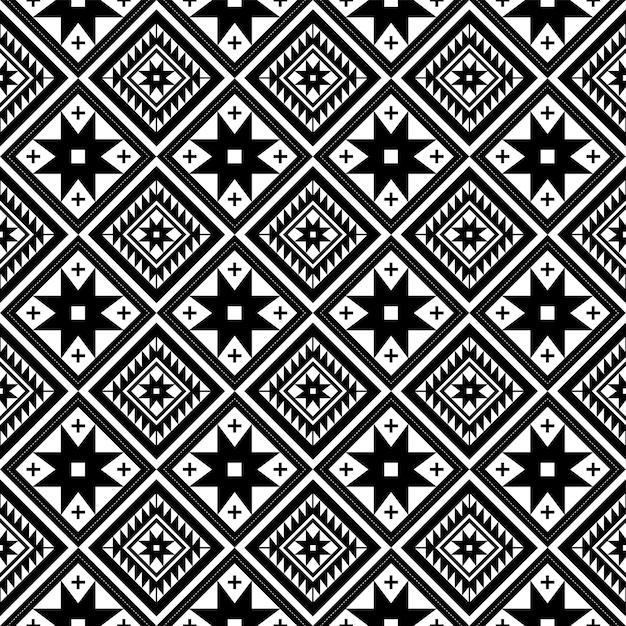 幾何学的形状のシームレスなパターン繰り返しデザイン。 Premiumベクター