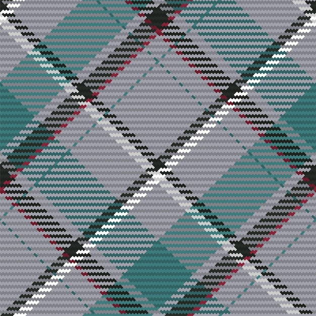 Seamless pattern of scottish tartan plaid. repeatable background with check fabric texture. flat vec