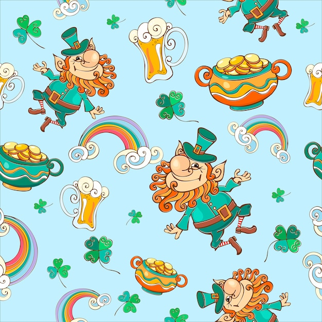 Seamless pattern for st. patrick's day. Premium Vector