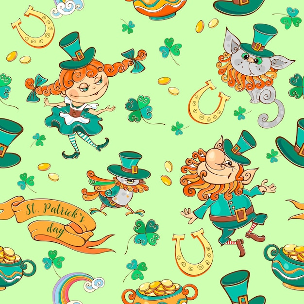 Seamless pattern for st. patrick's day Premium Vector