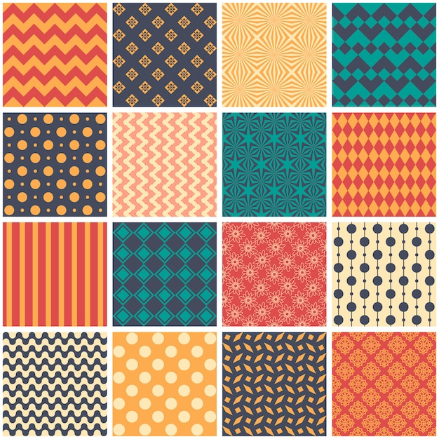 Seamless pattern in style of patchwork, vector. Premium Vector