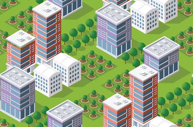 Seamless pattern urban plan Premium Vector