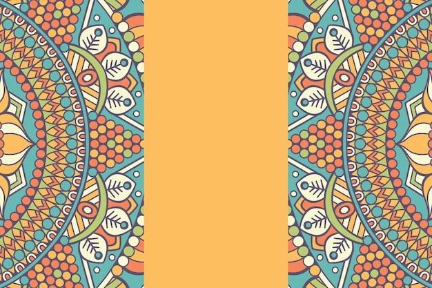 Seamless pattern. elementi decorativi vintage. sfondo disegnato a mano Vettore gratuito