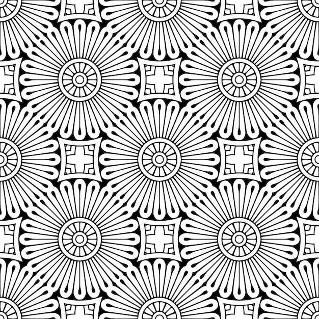 シームレスなパターン。ヴィンテージの装飾的な要素 無料ベクター