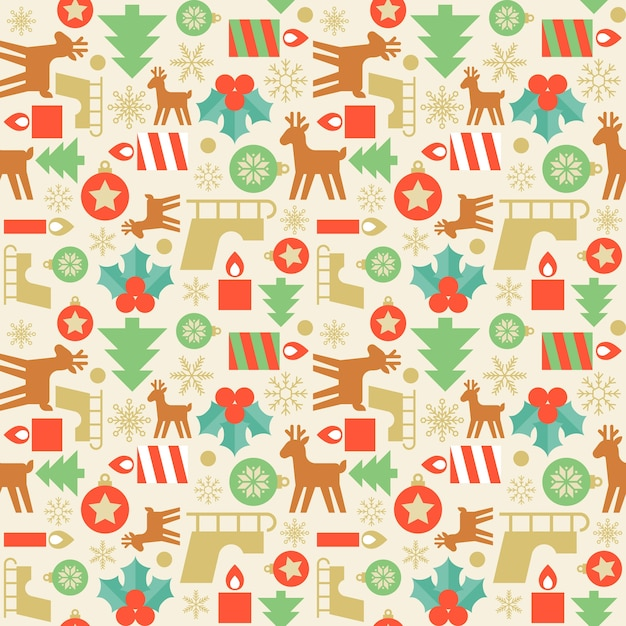 Seamless Pattern Wallpaper Of Christmas Vector Premium Download Magnificent Christmas Pattern Wallpaper