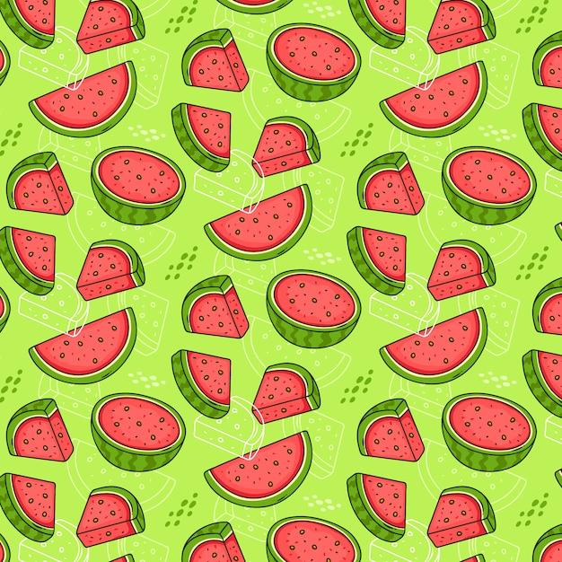 Seamless pattern di angurie Vettore gratuito