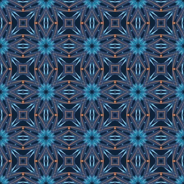 추상적 인 만다라 장식 풍의 완벽 한 패턴입니다. 프리미엄 벡터