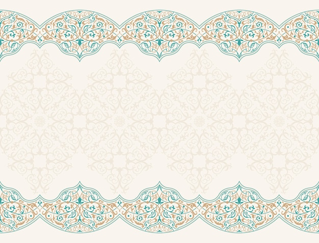 Seamless pattern with art ornament for