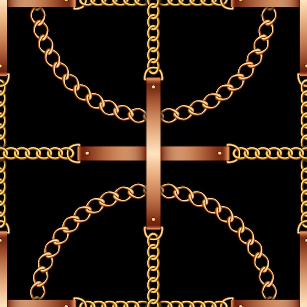 Seamless pattern with belts Premium Vector