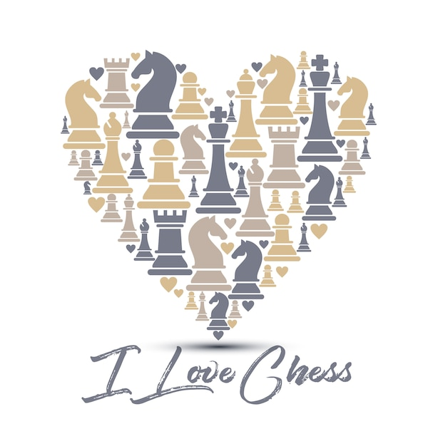 Seamless pattern with chess pieces Premium Vector
