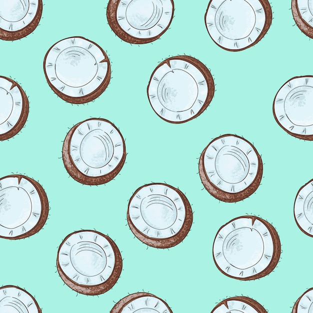 Seamless pattern with coconuts Premium Vector