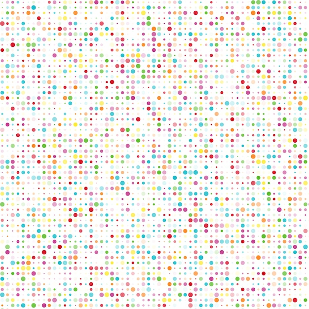 Seamless pattern with color circles Free Vector