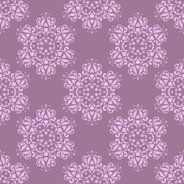 Seamless pattern with decorative flowers. Premium Vector