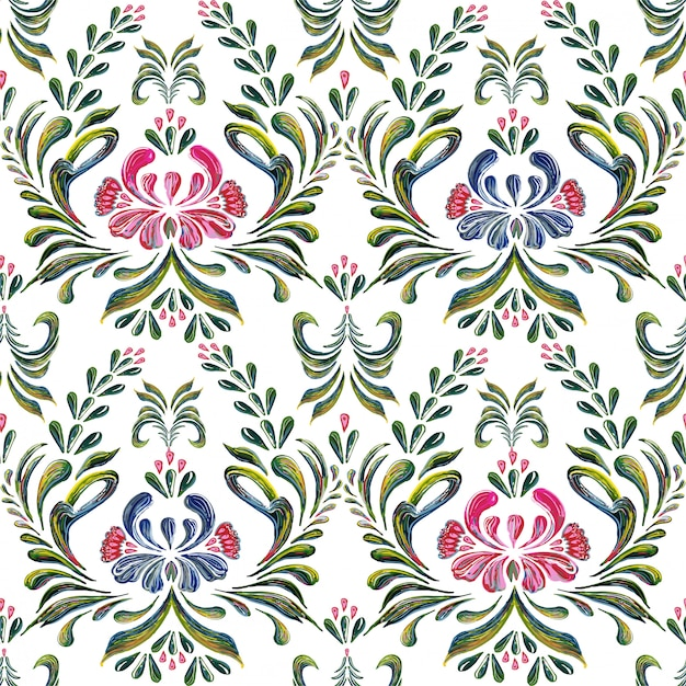 Seamless pattern with floral background. Premium Vector