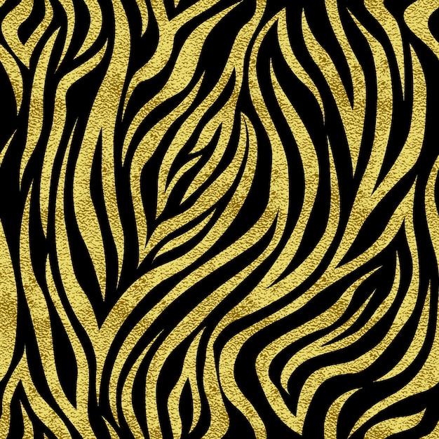 골드 반점 얼룩말과 완벽 한 패턴입니다. 인쇄물, 웹, 엽서, 배너 등의 배경 프리미엄 벡터