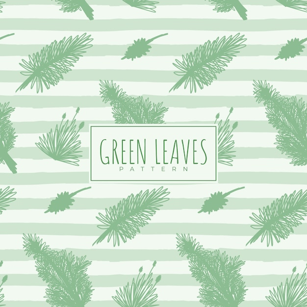 Seamless pattern with green leaves Premium Vector