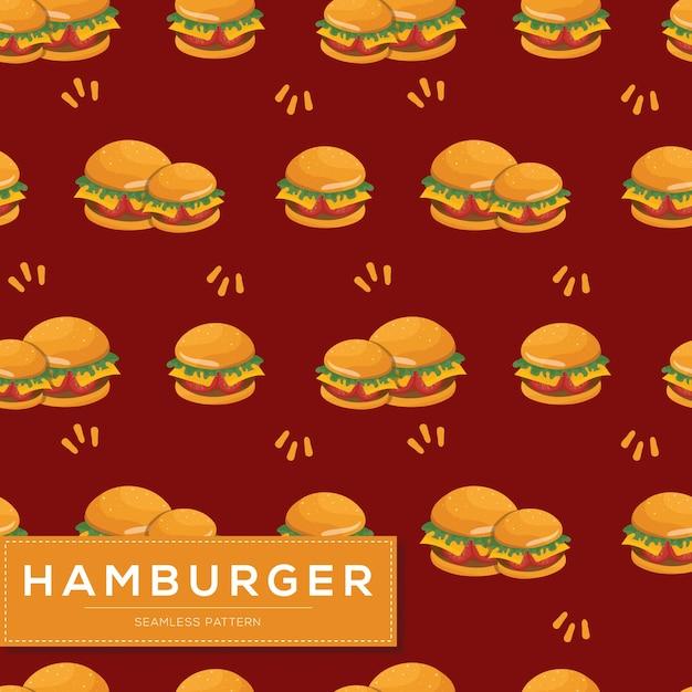 ハンバーガーとのシームレスなパターン Premiumベクター
