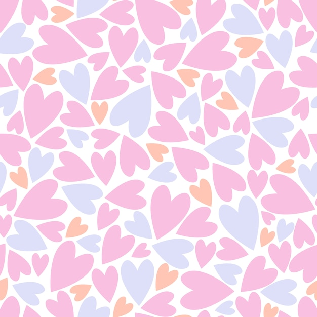Seamless pattern with hearts. Premium Vector