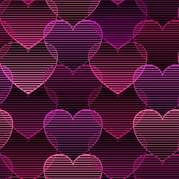 Seamless pattern with hearts Premium Vector
