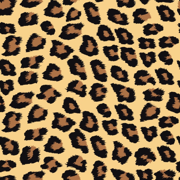 Seamless pattern with leopard skin. Premium Vector